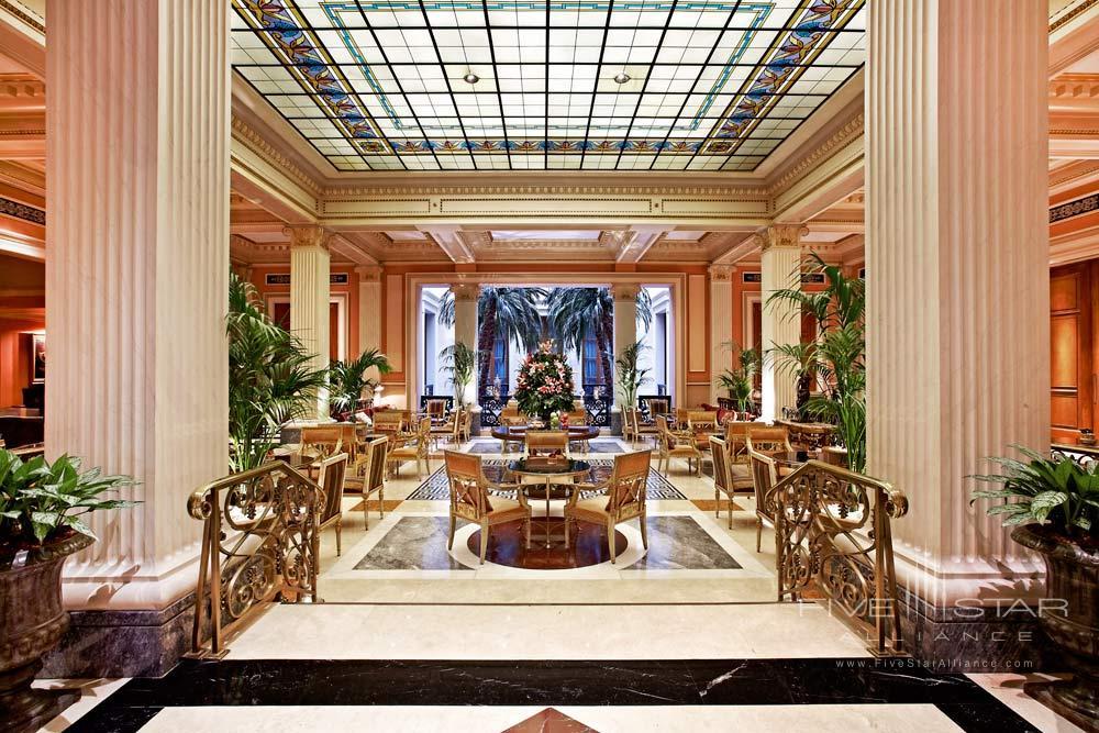 Lobby at Hotel Grande Bretagne