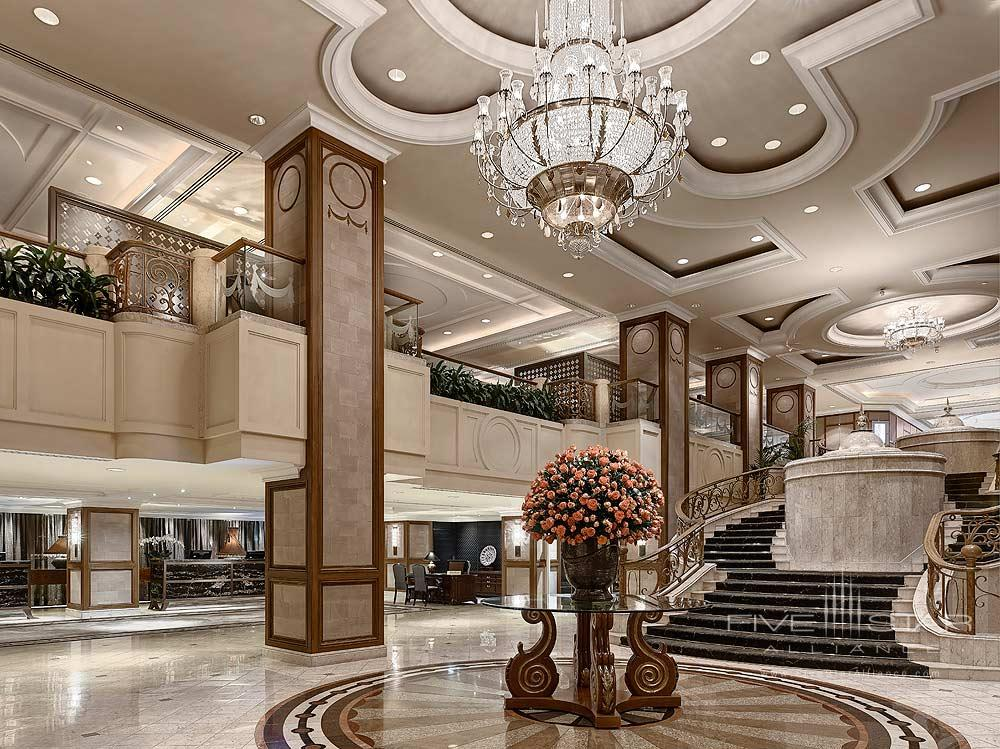 The Lobby Area At The Langham Hotel Melbourne.