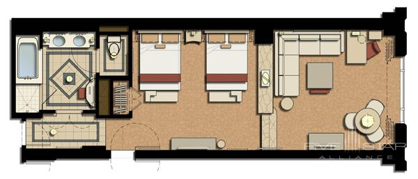 Bella Suite Floorplan at The Venetian Las Vegas