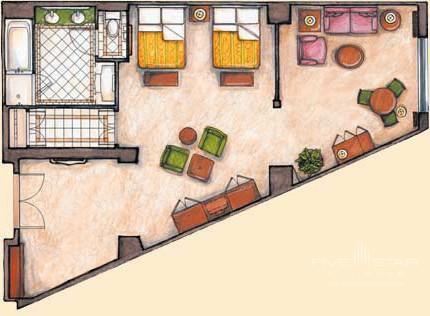 Rialto Suite Floorplan at The Venetian in Las Vegas