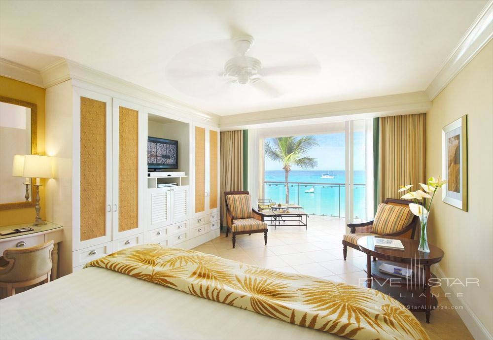 Oceanfront deluxe room at Fairmont Royal Pavilion, St James, Bridgetown, Barbados