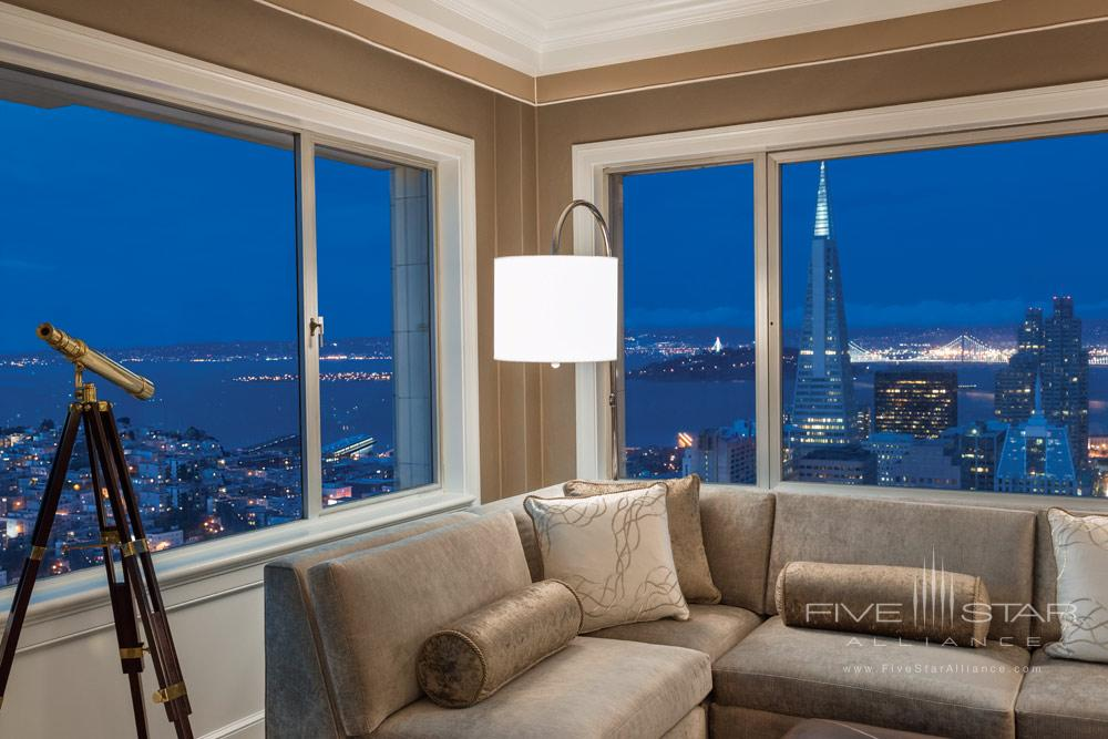 Signature Golden Gate Suite Living Room at Fairmont San Francisco