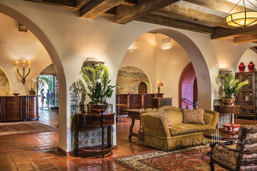 Lobby at Four Seasons Santa Barbara Biltmore