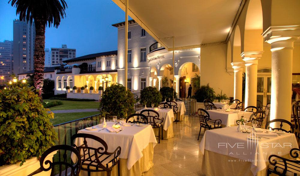 Terrace Dining at Country Club Lima HotelPeru