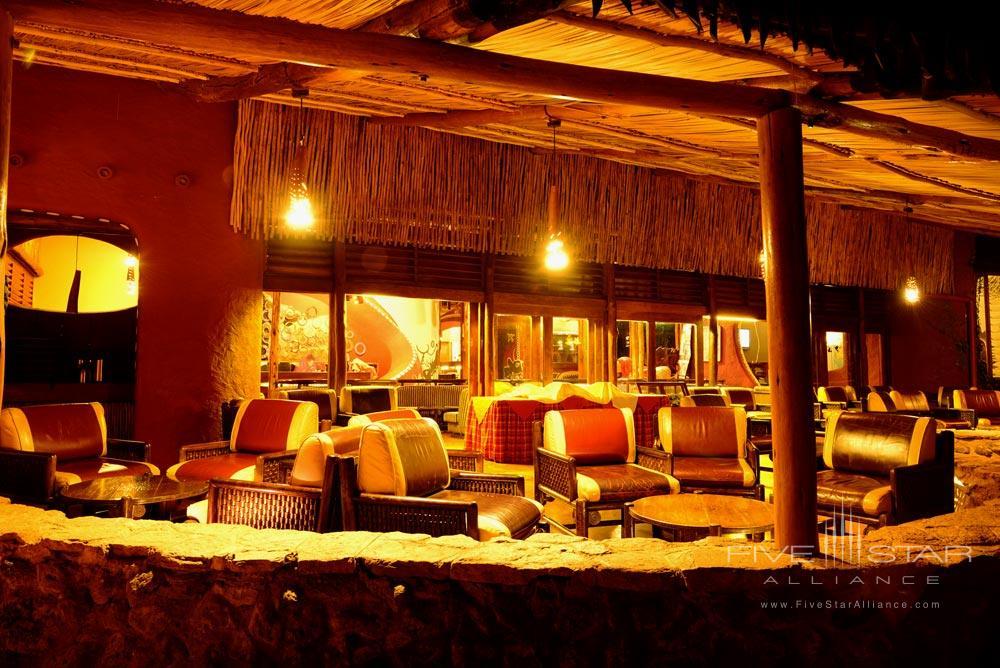 Waterhole Viewing Terrace at Amboseli Serena Safari LodgeAmboseliKenya
