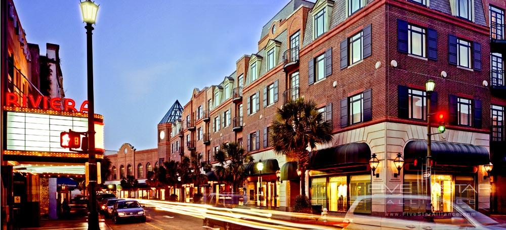 Belmond Charleston Place exterior along King Street, Charleston SC