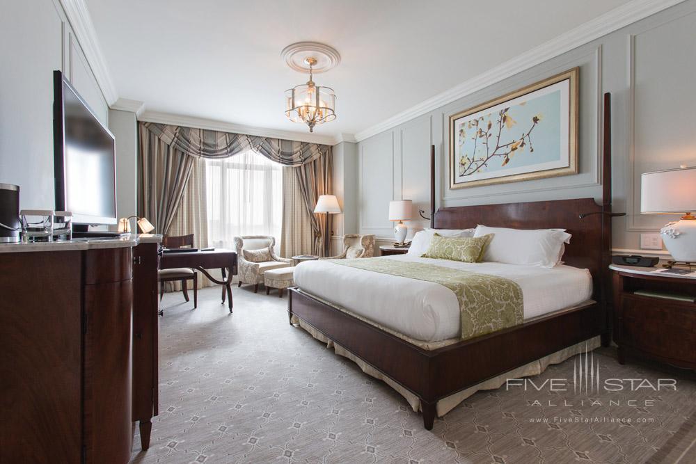 Newly renovated guestroom at Belmond Charleston Place, Charleston SC