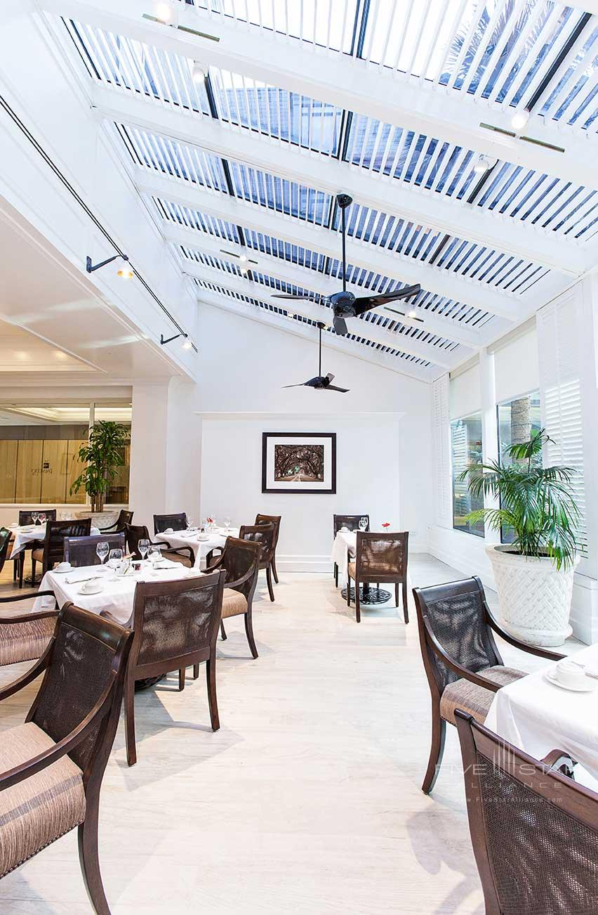 Enjoy breakfast lunch and weekend brunch at The Palmetto Cafe, Belmond Charleston Place
