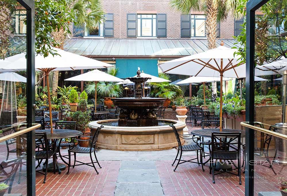 The Palmetto Cafe Courtyard at Belmond Charleston Place, Charleston SC