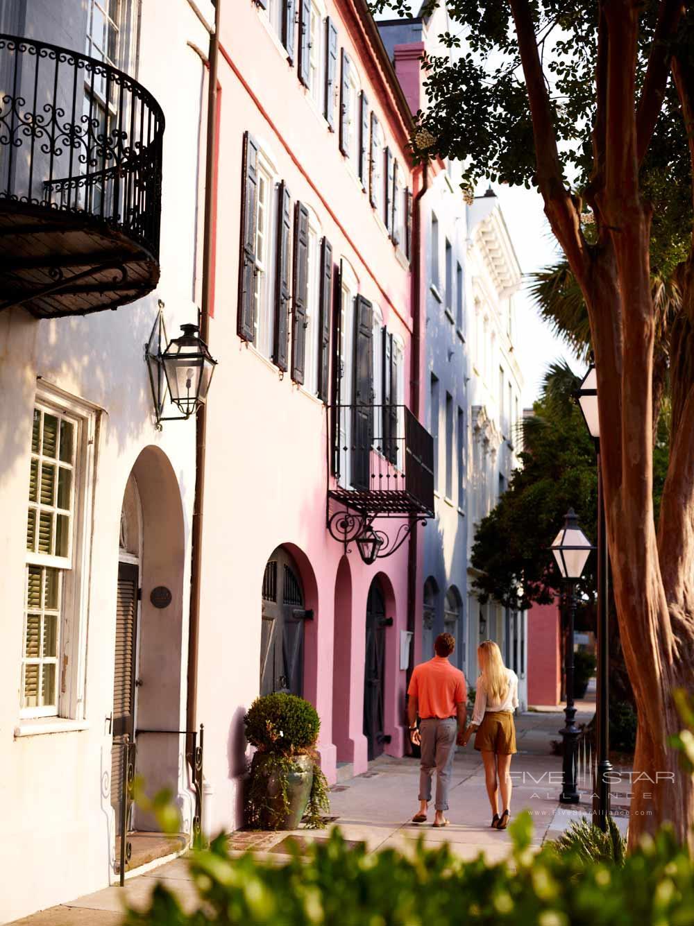 Explore Rainbow RowBelmond Charleston Place, Charleston SC