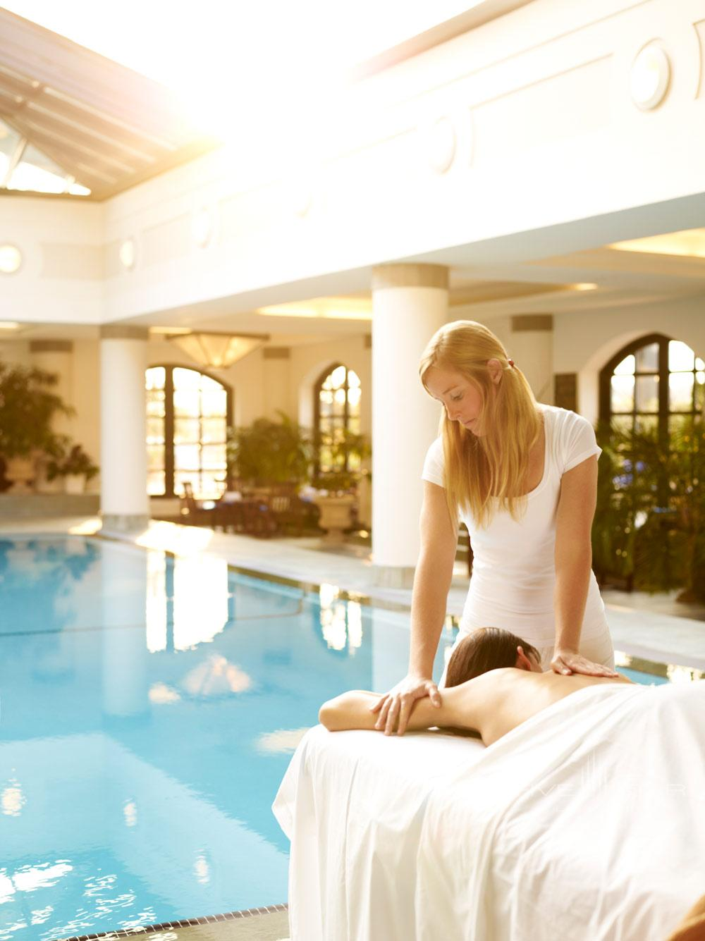 Poolside spa treatment at Belmond Charleston Place