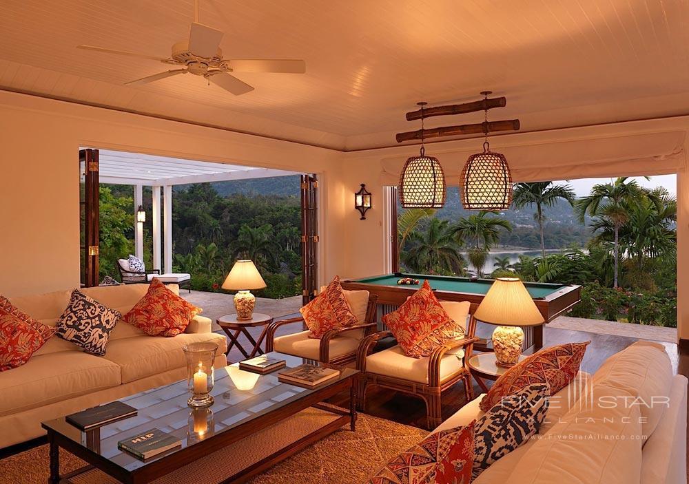 Villa Game Room at Round Hill Hotel And Villas Montego BayJamaica