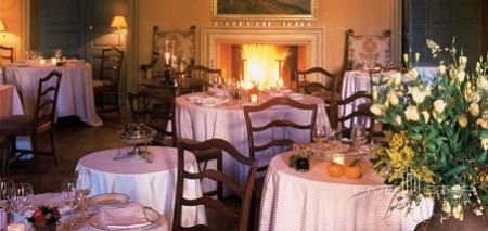 Dining By the Fireplace