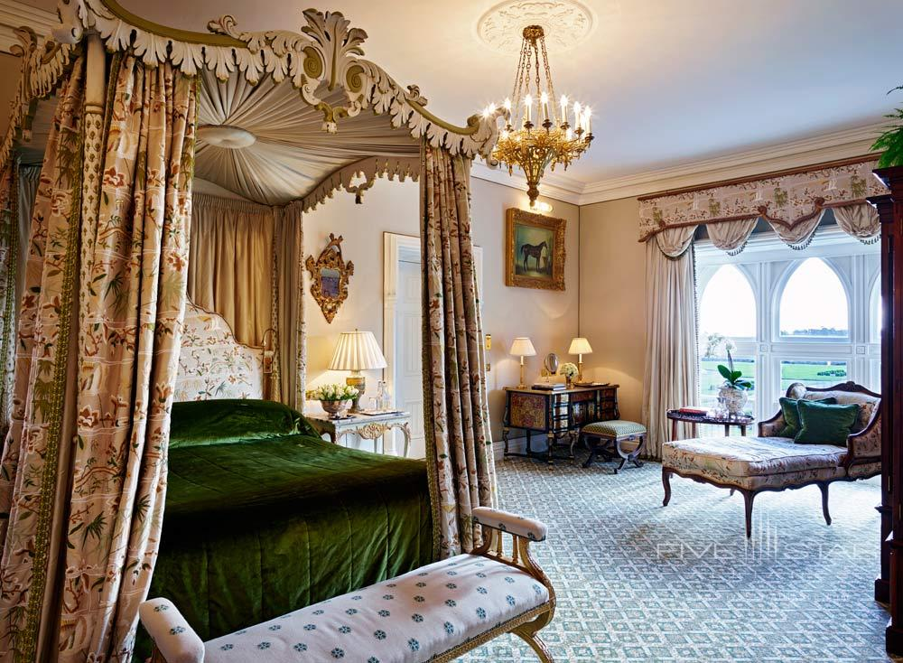 Guest room at Ashford Castle