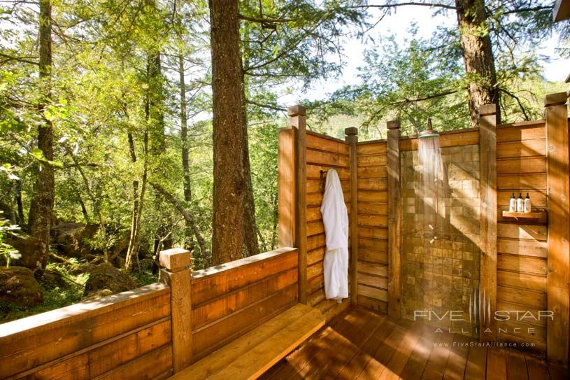 Outdoor Shower at The Calistoga Ranch