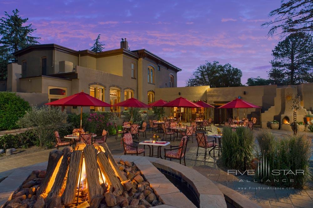 Patio Dining at La Posada De Santa Fe Resort and Spa, Santa Fe, NM