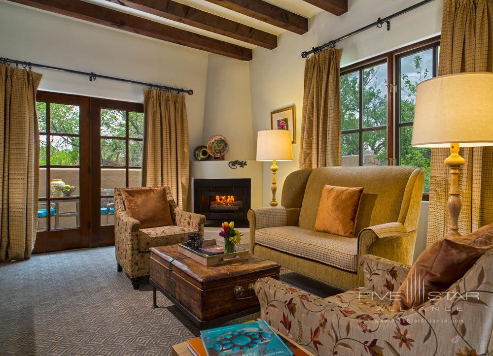 Spa Suite Living Room at La Posada De Santa Fe Resort and Spa, Santa Fe, NM