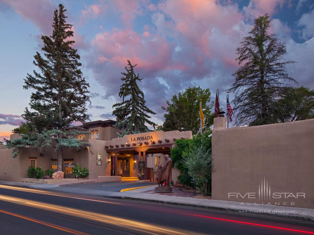 Hotel Exterior of Double La Posada De Santa Fe Resort and Spa, Santa Fe, NM