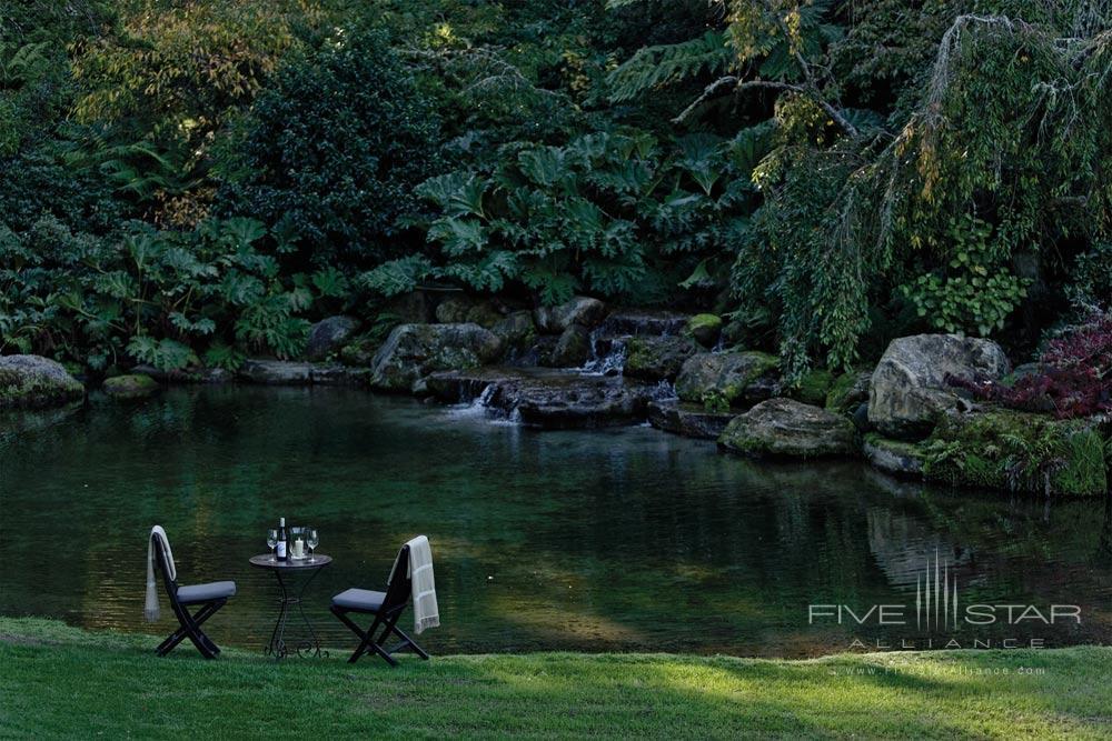 Private Dining Next to Water Garden atThe Huka LodgeNew Zealand