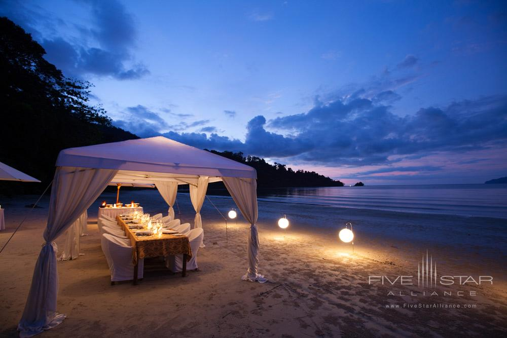 Private Beach Dining at The Datai LangkawiMalaysia
