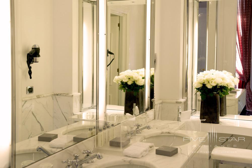Via Veneto Suite Bath at Hotel Majestic Roma, Italy