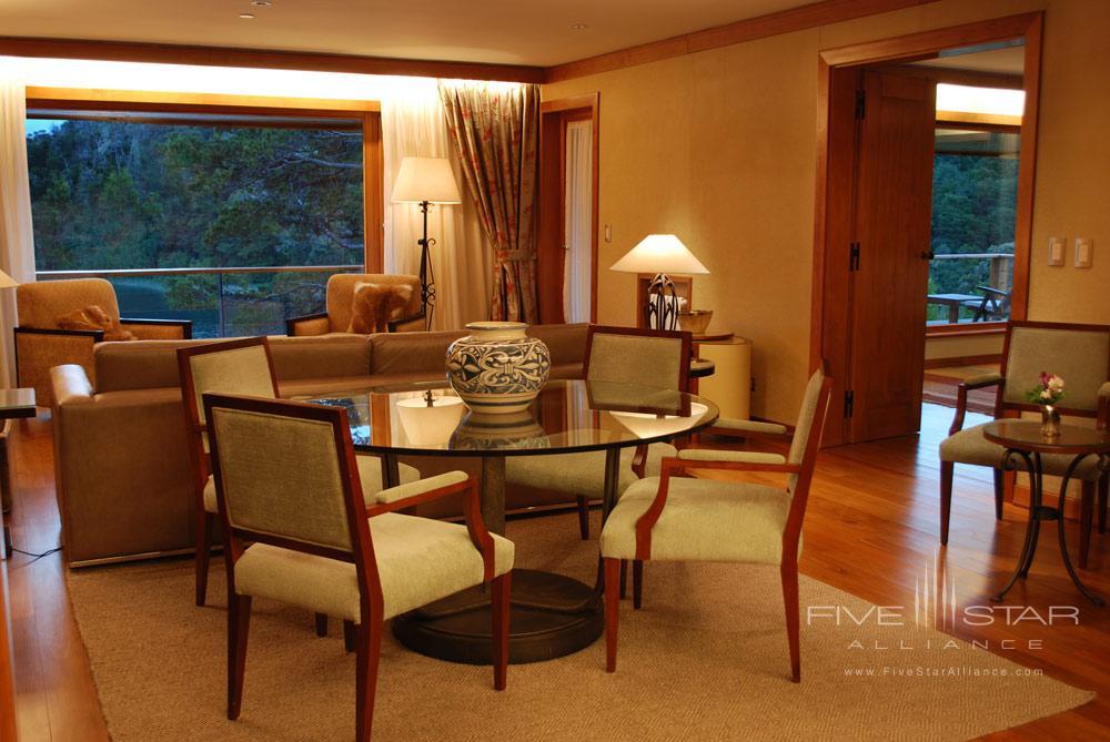 Royal Dining and Living Area at Llao Llao Hotel BarilocheArgentina