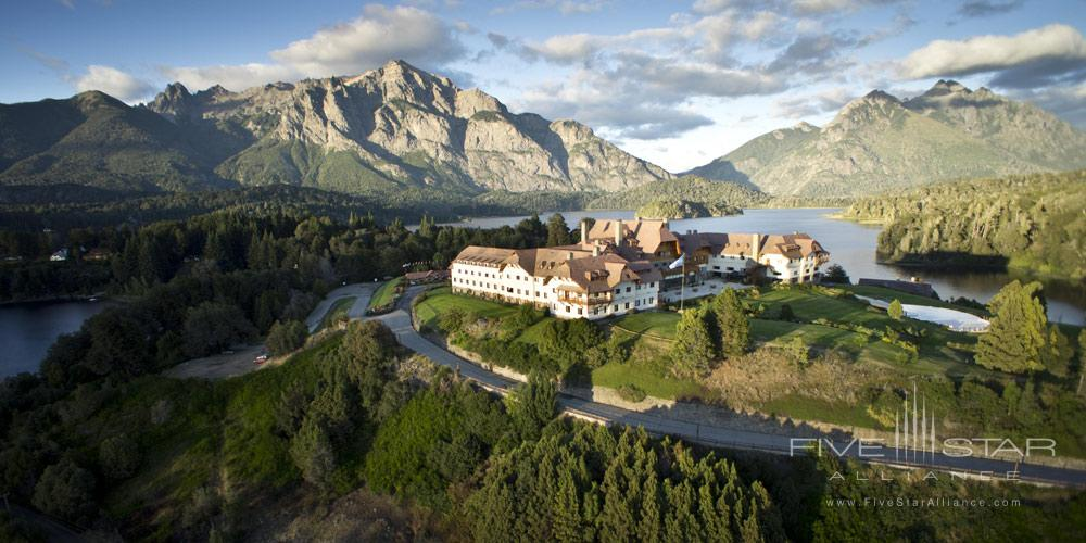 Aerial View of Llao Llao Hotel BarilocheArgentina