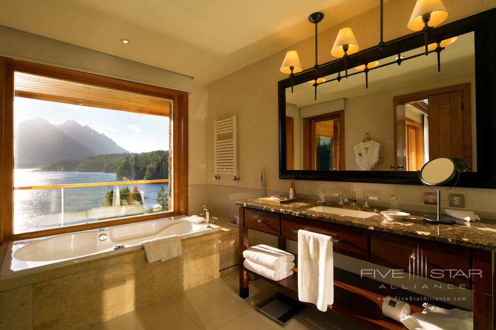 Lago Moreno De Lujo Suite Bath at Llao Llao Hotel BarilocheArgentina