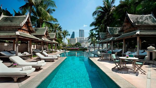 Set amidst stunning views over the Chao Phraya Riverwatch the world go by at The Pool as you recline on one of the luxurious sun loungers or seek shade in the comfort of one of 12 traditional Thai salas with your favourite cocktail and a light snack from the pool bar.