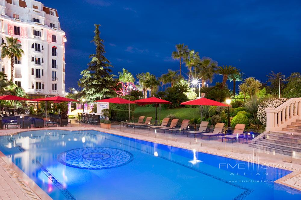 Outdoor Pool at Hotel Barriere Le Majestic CannesFrance