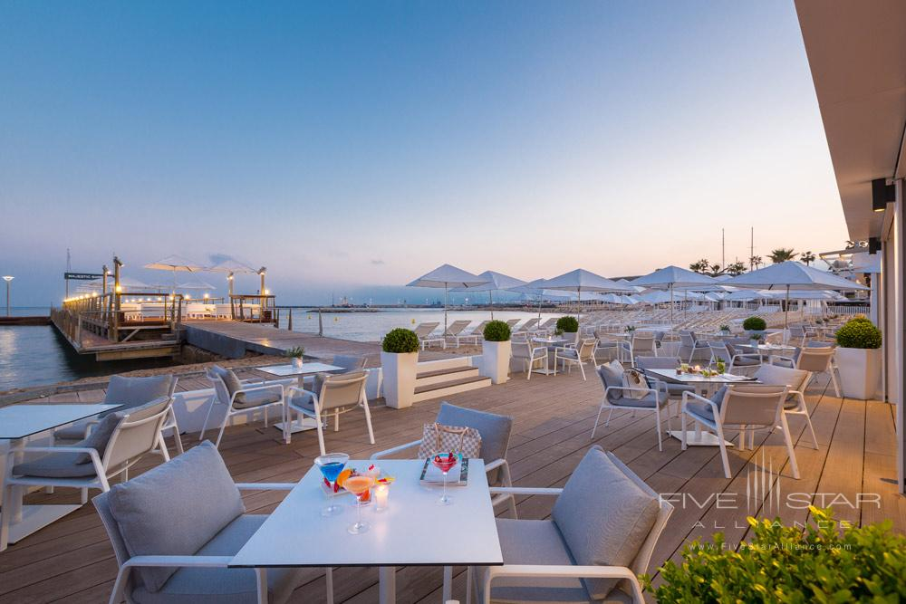Terrace Dining at Hotel Barriere Le Majestic CannesFrance