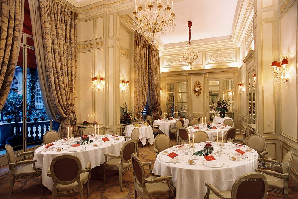 The Marie Antoinette Room at the Hotel Plaza Athenee Paris