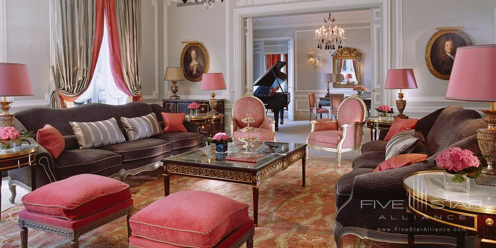 Eifel Suite Living Area at the Hotel Plaza Athenee Paris