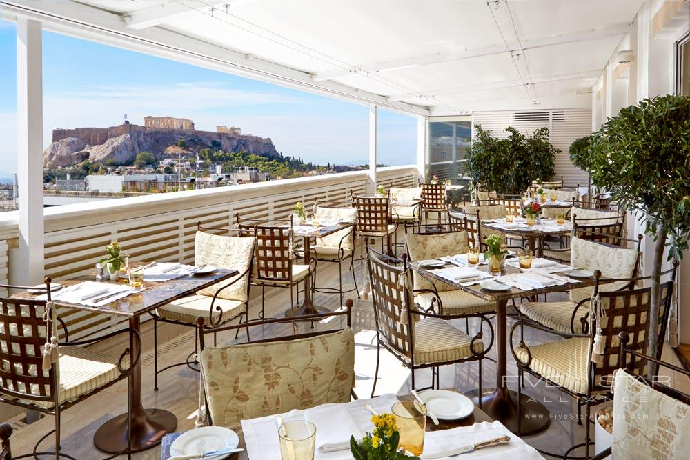 Dining at King George Palace AthensGreece
