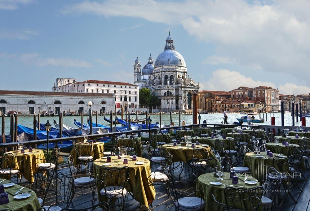 Dining at Bauer Palazzo, Venice, Italy