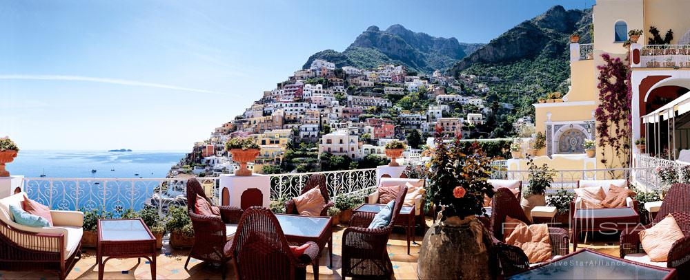 Views While Dining at Le Sirenuse, Positano, Italy