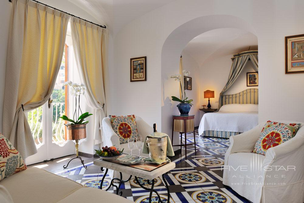 Lounge of Guest Room Number 22 at Le Sirenuse, Positano, Italy