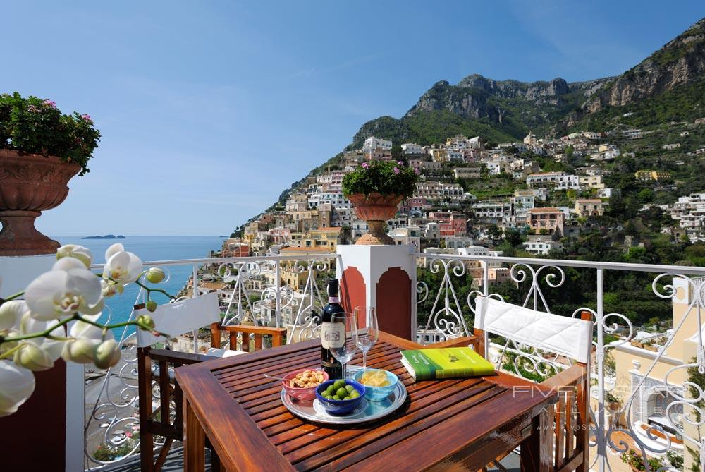 Balcony of Guest Room Number 85 at Le Sirenuse, Positano, Italy