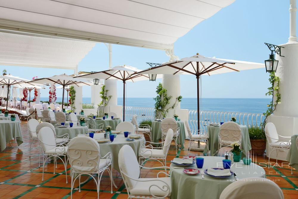 Terrace Dining at Le Sirenuse, Positano, Italy