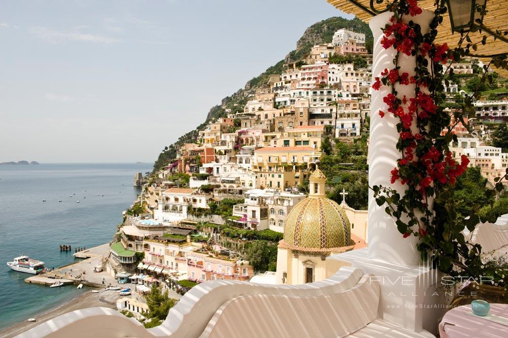 Pool Terrace Views at Le Sirenuse, Positano, Italy
