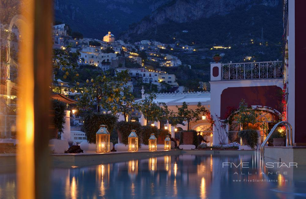 Night View Pool at Le Sirenuse, Positano, Italy