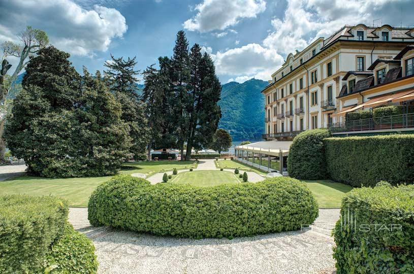 Garden View From The Mosaic at The Villa d'Este Lake Como