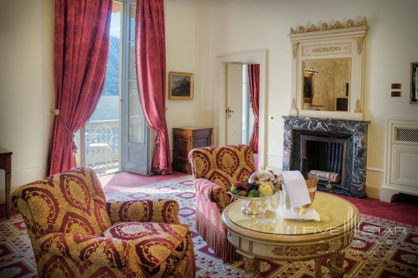 Presidential Suite Living Room at The Villa d'Este Lake Como