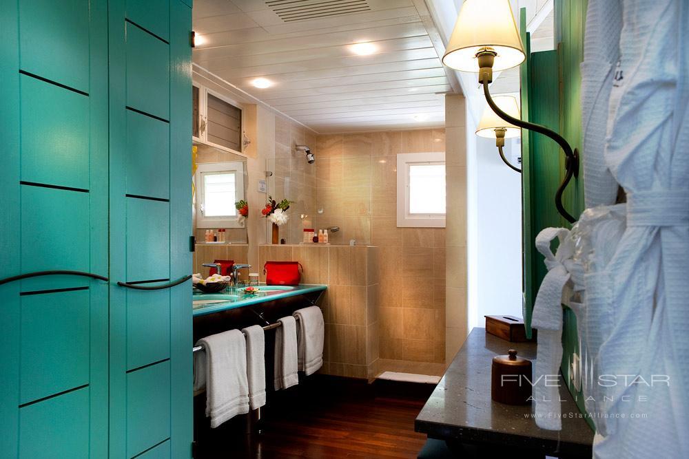 Ocean Bay Room Bath at Guanahani Hotel