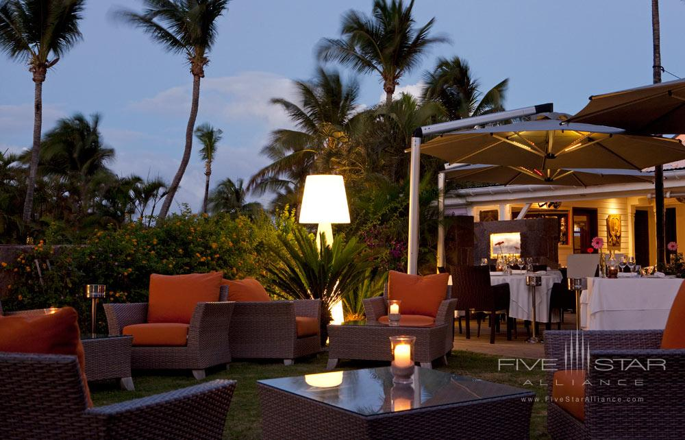Terrace Dining at Guanahani Hotel