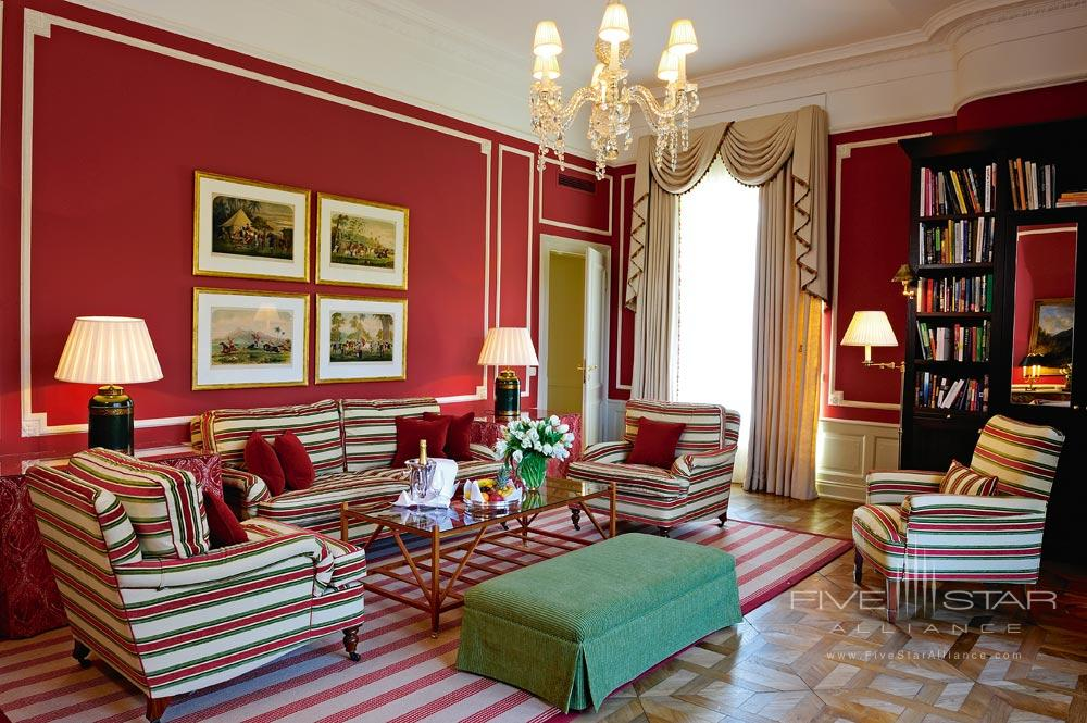 Deluxe Suite Living Room at Brenners Park Hotel and SpaBadenGermany