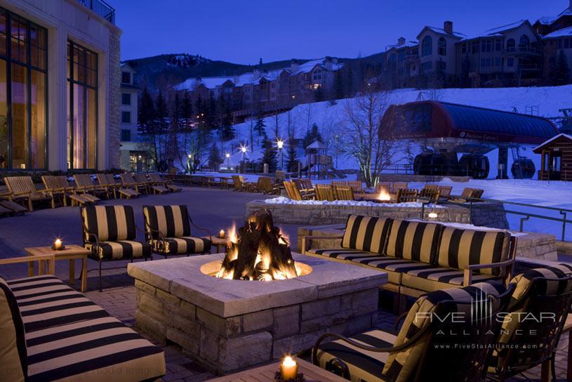 Outdoor fireplace at the Park Hyatt Beaver Creek Resort and Spa