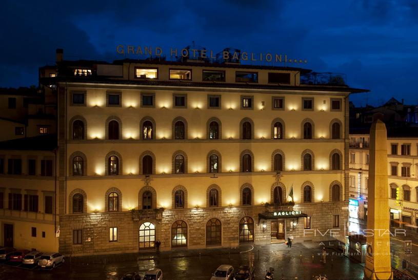 Grand Hotel Baglioni Exterior at Night