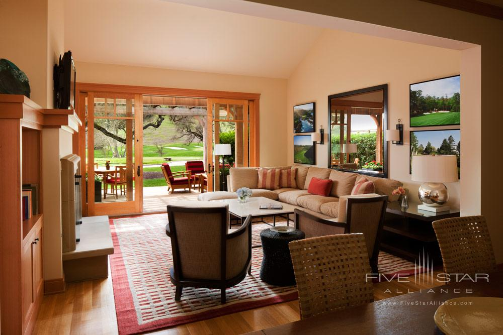 Fairway Home living area at CordeVallea Rosewood Resort in San MartinCAUnited States