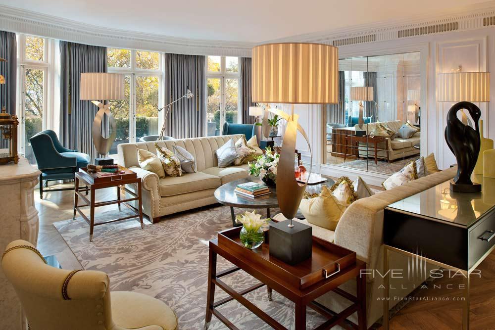 Living Room of Royal Suite at Mandarin Oriental Hyde Park